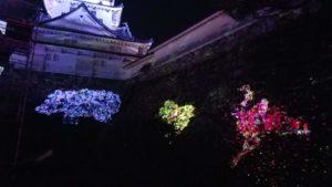高知市丸ノ内で開催中チームラボ高知城の写真 高知市デザイン住宅SAI