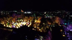 高知市にてチームラボ高知城を開催している風景写真 須崎市注文住宅SAI