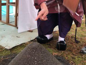 土佐市高岡町N様邸地鎮祭の鍬入れの儀|高知市注文住宅SAI