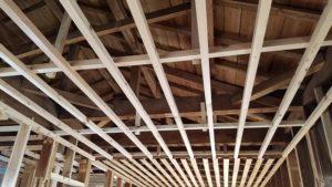 お家内部解体の構造写真 高知市注文住宅SAI