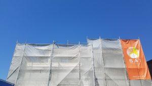 香南市野市町M様邸の工事中外観風景|高知市注文住宅SAI