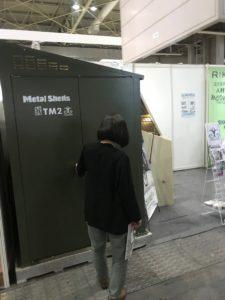 インテックス大阪にて関西エクステリアフェアの出店している倉庫外観写真|高知注文住宅SAI