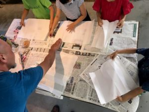 吾川郡いの町土佐和紙工芸村くらうどにてうちわ制作画像|高知市注文住宅SAI