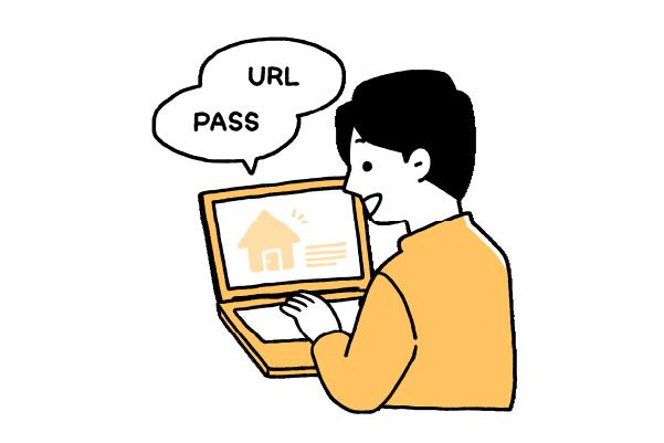 オンライン相談会専用 URLとパスワードをお客様のメールで送りログイン