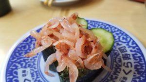 スシローさんで桜エビのお寿司写真|高知市注文住宅SAI