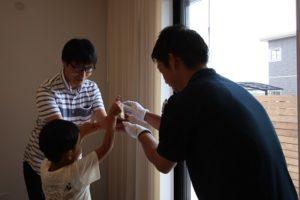 香南市野市町M様邸カギのお渡し写真|高知市注文住宅SAI